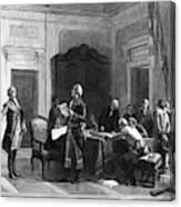 Washington And Lafayette Canvas Print