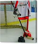 Washington Capitals Home Hockey Jersey Canvas Print
