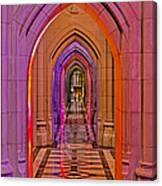 Washington Cathedral Light Show Canvas Print