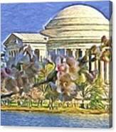 Washington Cherry Blossoms Canvas Print