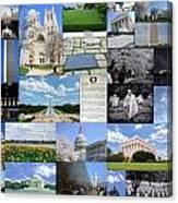 Washington D. C. Collage  Canvas Print