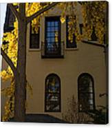 Washington D C Facades - Dupont Circle Neighborhood In Yellow Canvas Print