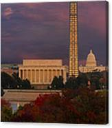 Washington Dc Iconic Landmarks Canvas Print