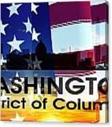 Washington Dc Patriotic Large Cityscape Canvas Print