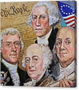 Founding Fathers Washington Jefferson Adams And Franklin Canvas Print