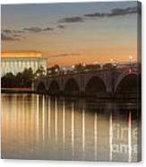 Washington Landmarks At Dawn I Canvas Print