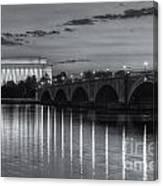 Washington Landmarks At Dawn II Canvas Print