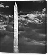 Washington Monument In Cloudy Sky Canvas Print