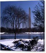Washington Monument Winter  Canvas Print