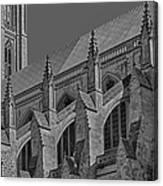 Washington National Cathedral  Bw Canvas Print