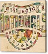 Washington Nationals Poster Art Canvas Print