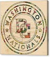 Washington Nationals Poster Vintage Canvas Print