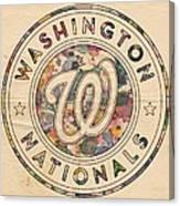 Washington Nationals Vintage Art Canvas Print