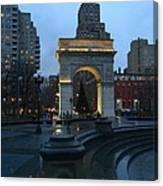 Washington Square In New York At Dusk Canvas Print