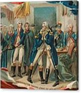 Washington Taking Leave Of His Officers Canvas Print