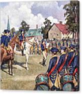 Washingtons Army, 1776 Canvas Print