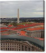 Washintgon Monument From The Tower Of The Old Post Office Tower Canvas Print
