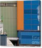 Waste-to-energy Plant Detail Oberhausen Germany Canvas Print