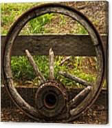 Www. Wasted Wagon Wheel Canvas Print