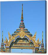 Wat Amarintaram Temple Gate Dthb1524 Canvas Print