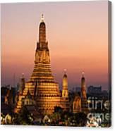 Wat Arun At Sunset - Bangkok Canvas Print