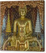 Wat Chai Monkol Phra Ubosot Buddha Images Dthcm0849 Canvas Print