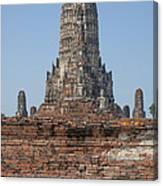 Wat Chaiwatthanaram Ubosot Platform And Buddha Images Dtha0189 Canvas Print