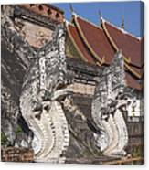 Wat Chedi Luang Phra Chedi Luang Five-headed Naga Dthcm0052 Canvas Print