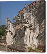 Wat Chedi Luang Phra Chedi Luang Five-headed Naga Dthcm0054 Canvas Print