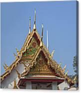 Wat Chumphon Nikayaram Phra Ubosot Gables Dtha0125 Canvas Print