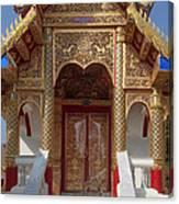 Wat Dok Eung Phra Ubosot Entrance Dthcm0353 Canvas Print
