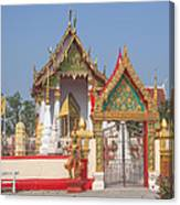 Wat Kampaeng Phra Ubosot And Gate Dtha0142 Canvas Print