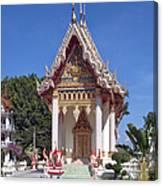 Wat Mahawanaram Ubosot Dthu652 Canvas Print
