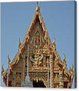 Wat Na Kwai Ubosot Front Gable Dthu161 Canvas Print