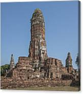 Wat Phra Ram Great Central Prang Complex Dtha0157 Canvas Print