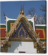 Wat Phrasri Mahathat Ubosot North Wing Gable Dthb1469 Canvas Print