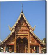 Wat Phuak Hong Phra Wihan Gable Dthcm0575 Canvas Print