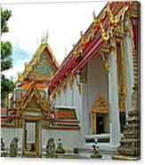Wat Po In Bangkok-thailand Canvas Print