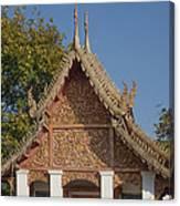 Wat Sri Don Chai Phra Ubosot Gable Dthcm0095 Canvas Print