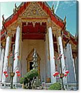 Wat Suthat In Bangkok-thailand Canvas Print