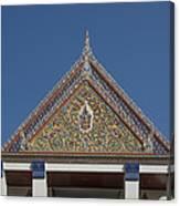 Wat Thewasunthon Preaching Hall Gable Dthb1423 Canvas Print