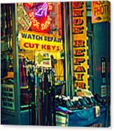 Watch Repair Shop - Keys Made Here Canvas Print