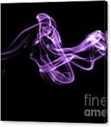 Watch The Flow - Purple Canvas Print