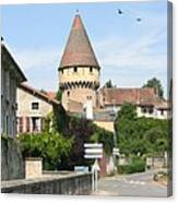Watch Tower In Cluny Canvas Print