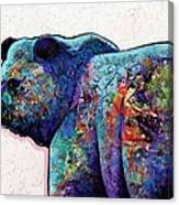 Watchful Eyes - Grizzly Bear Canvas Print