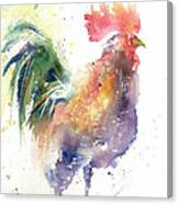 Watchful Rooster Canvas Print