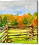 Watching Autumn Canvas Print