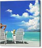Watching Clouds Canvas Print