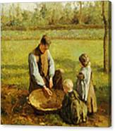 Watching Father Work Canvas Print