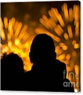 Watching Fireworks Canvas Print